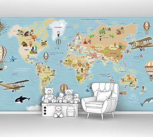 Детская карта с аэропланами