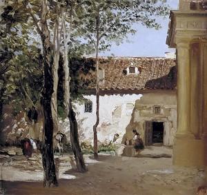 Карлос де Хас. Двор монастыря Пьедра