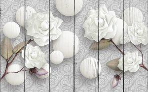 Розы с стереоскопическими шарами