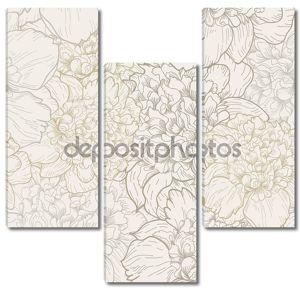 Цветочный узор с пионами