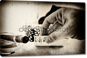 Винтаж покерная рука