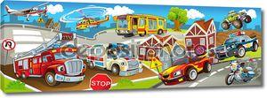 транспортные средства в городе, городского хаоса