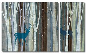 Лес в снежинках
