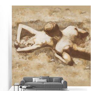 Девушка и мужчина на песке