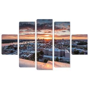 Вечерняя панорама города Риги