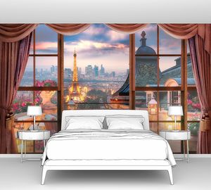 Ночной Париж за окном