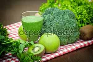 Зеленый коктейль - зеленый сок
