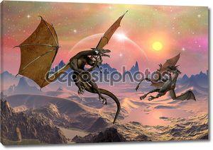 Драконы - фантастический мир 03