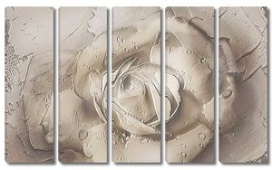 Роза на штукатурке