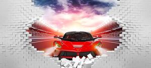 Спортивная машина из стены