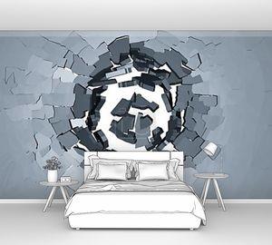 отверстие в стене трещины