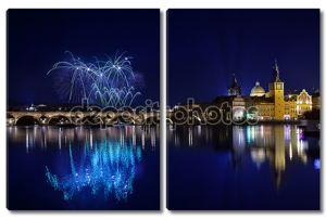 Новогодний фейерверк в Праге, Чешская оценивающая
