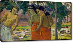 Поль Гоген. Три таитянские женщины