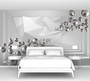 Летящие металлические шарики в тоннеле