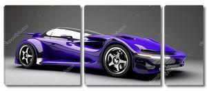 Синий спортивный автомобиль роуд star 3d визуализации