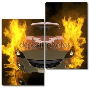 Фон автомобиля в огне
