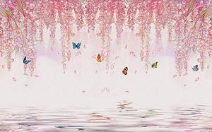 Свисающие цветы над водой