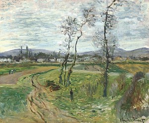 Моне Клод. Поле в Женневилье, 1877