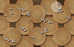 Птицы на фоне ковриков