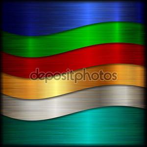 Радужный металлический фон
