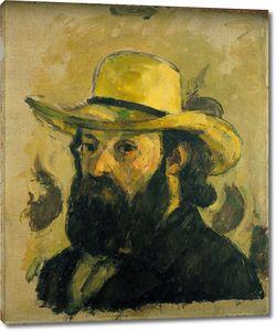 Поль Сезанн. Портрет художника в соломенной шляпе