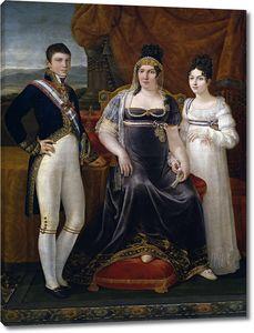 Апарисио и Инглада Хосе. Королева Этрурии и ее дети