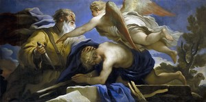 Лука Джордано. Жертвоприношение Исаака, 1695