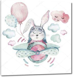Пасхальный пилот кролик