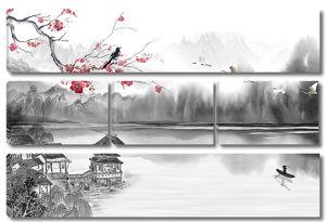 Китайские домики на реке