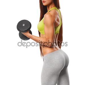 Сексуальная женщина спортивная
