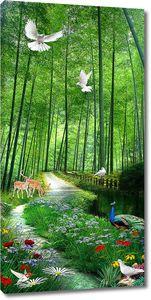 Дорожка вдоль лесной речки
