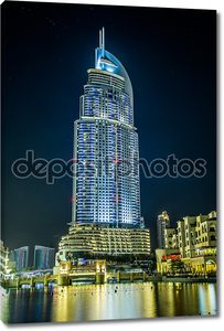 адрес отель в районе Дубай с видом на знаменитый da