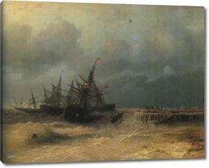 Айвазовский. Спасающиеся от бури