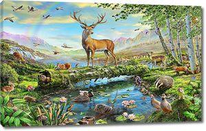 Животные у реки