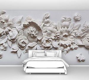 Цветы из алебастра