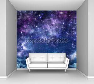 звездное небо в открытом космосе