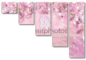 Розовый сказочный замок
