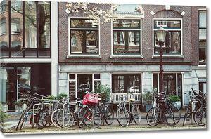 Винтаж велосипеды дома накладки из Амстердама, Нидерланды