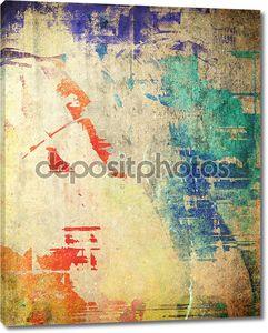 Цветная гранж иллюстрация