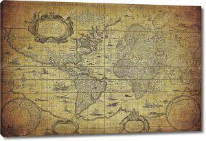 Старинные карты мира 1635