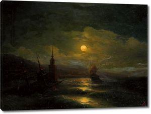 Айвазовский. Лунная ночь в Константинополе