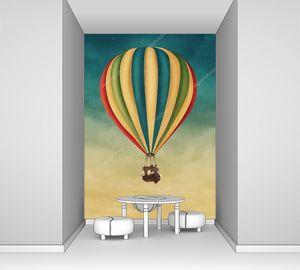 Воздушный шар полосатый