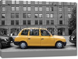 типичное желтое такси