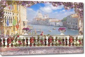 Вид с террасы на прекрасную Венецию