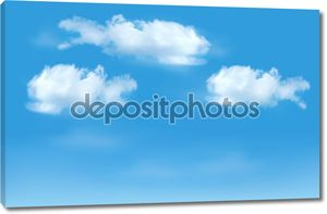Облака на голубом фоне