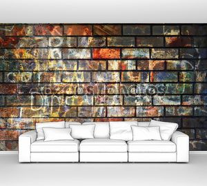 Рраффити стены, гранж-фон