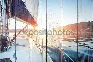 Парусная лодка океана