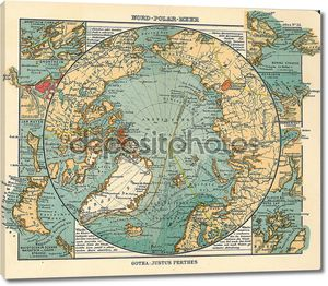 Арктический старая карта