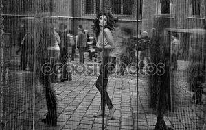 Изобразительного искусства фото - топлесс брюнетка поразили в уличные толпы