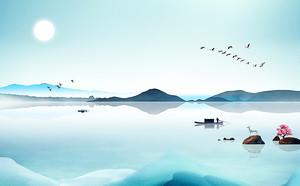 Широкое голубое озеро
